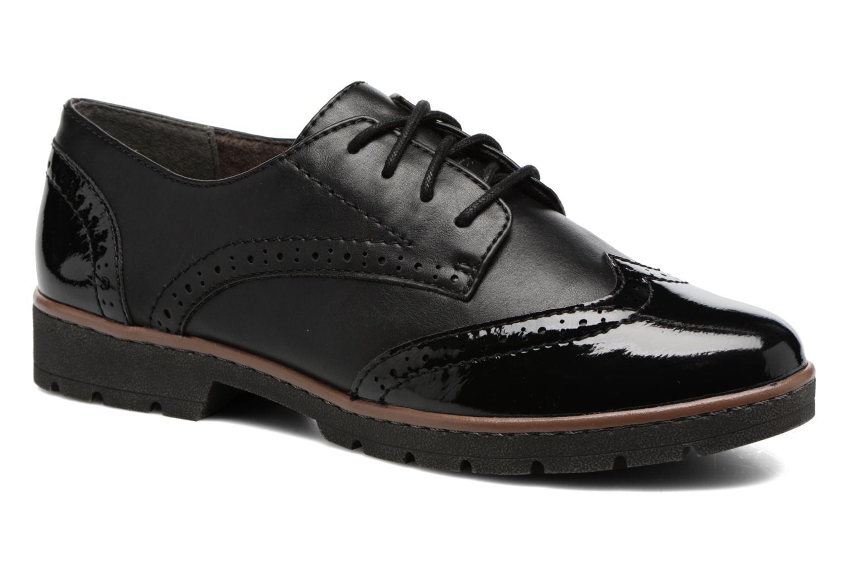 Chaussures à lacets Jana shoes Pomina Noir vue détail/paire