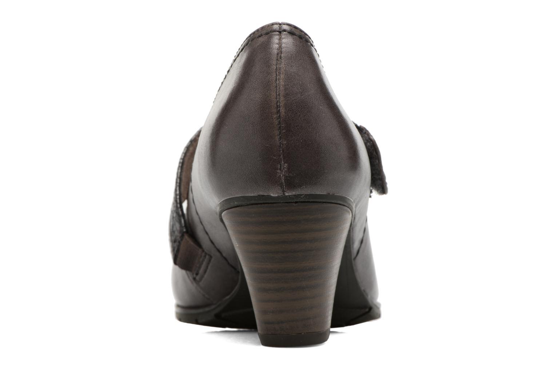 Zapatos de tacón Jana shoes Aciat Marrón vista lateral derecha