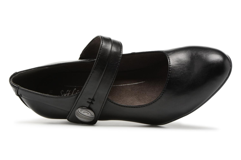 Escarpins Jana shoes Plati Noir vue gauche