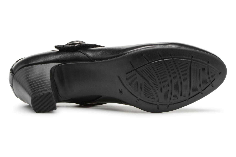 Escarpins Jana shoes Plati Noir vue haut