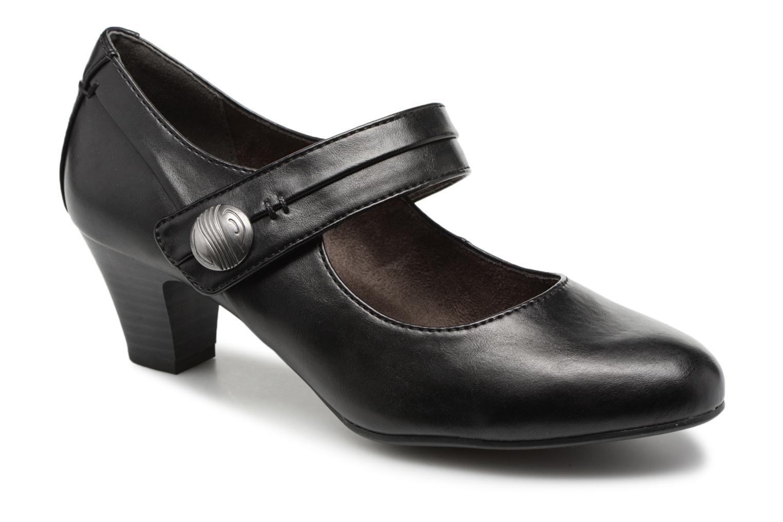 Escarpins Jana shoes Plati Noir vue détail/paire