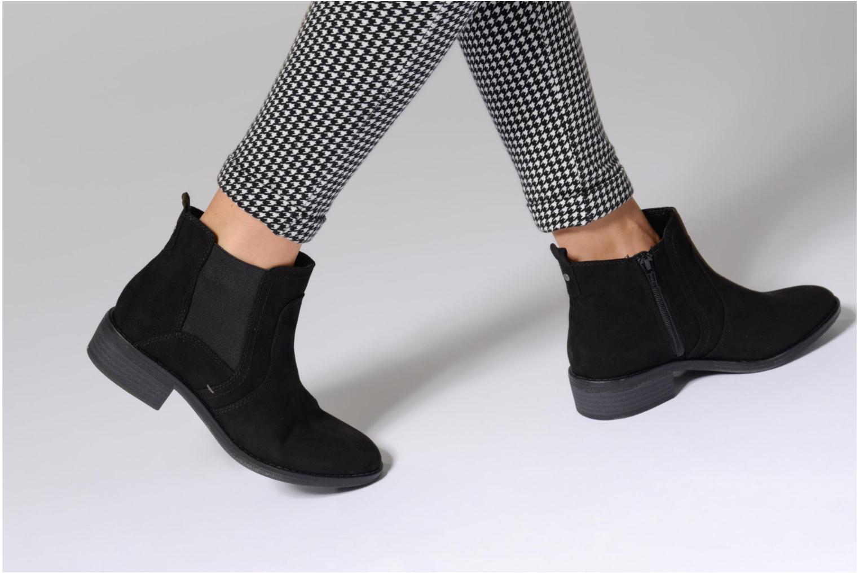 Bottines et boots Jana shoes Myat Noir vue bas / vue portée sac