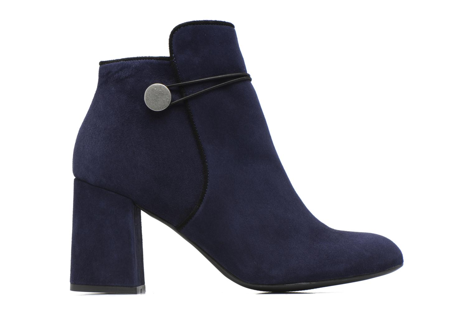 Boots Camp #7 Cuir velours marine