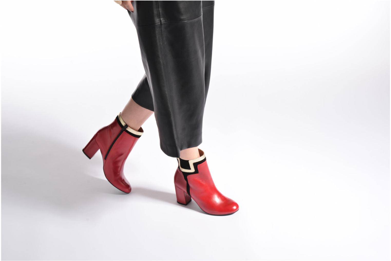 Bottines et boots Made by SARENZA Boots Camp #10 Rouge vue bas / vue portée sac