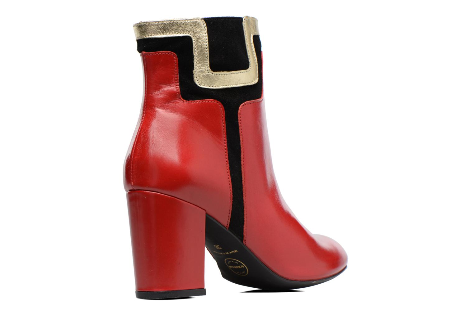 Bottines et boots Made by SARENZA Boots Camp #10 Rouge vue face