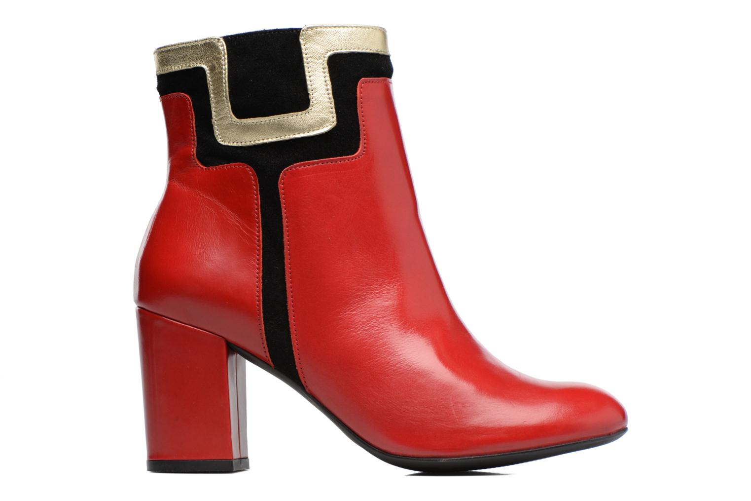 Boots Camp #10 cuir lisse rouge