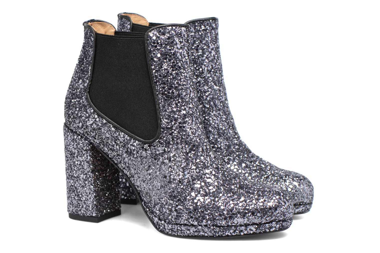 Bottines et boots Made by SARENZA Winter Freak #3 Argent vue derrière