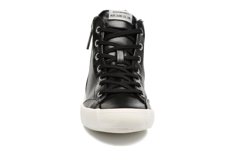 Baskets Pepe jeans CLINTON SUE Noir vue portées chaussures