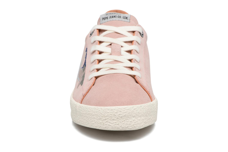 Baskets Pepe jeans PORTOBELLO EDT BASING Rose vue portées chaussures