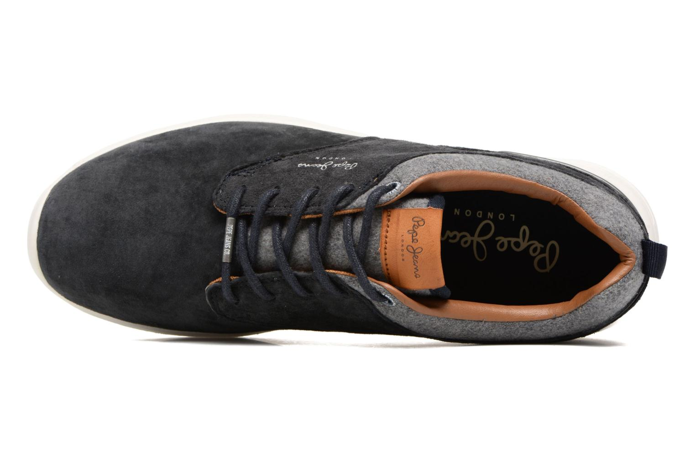 Baskets Pepe jeans JAYDEN SUEDE Bleu vue gauche