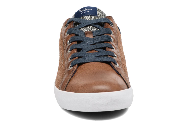 Baskets Pepe jeans NORTH MIX Marron vue portées chaussures