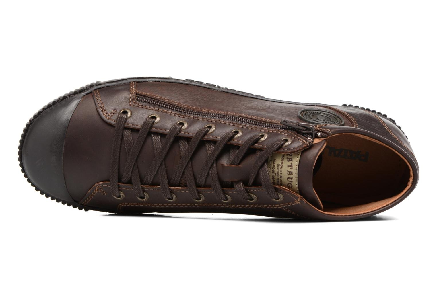 Trainers Pataugas Bumper/W Brown view from the left