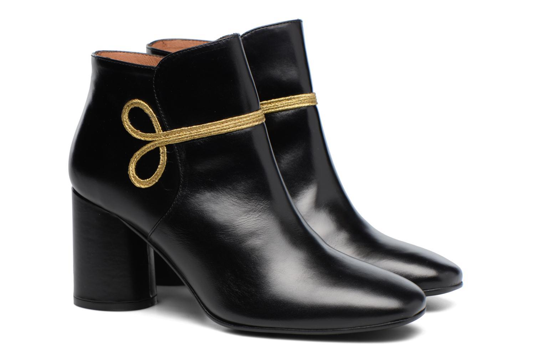 Boots Camp #14 Cuir Lisse Noir