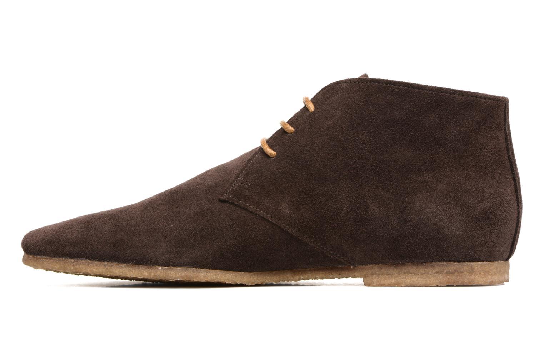 Chaussures à lacets Schmoove Creps Desert Cowsuede Marron vue face