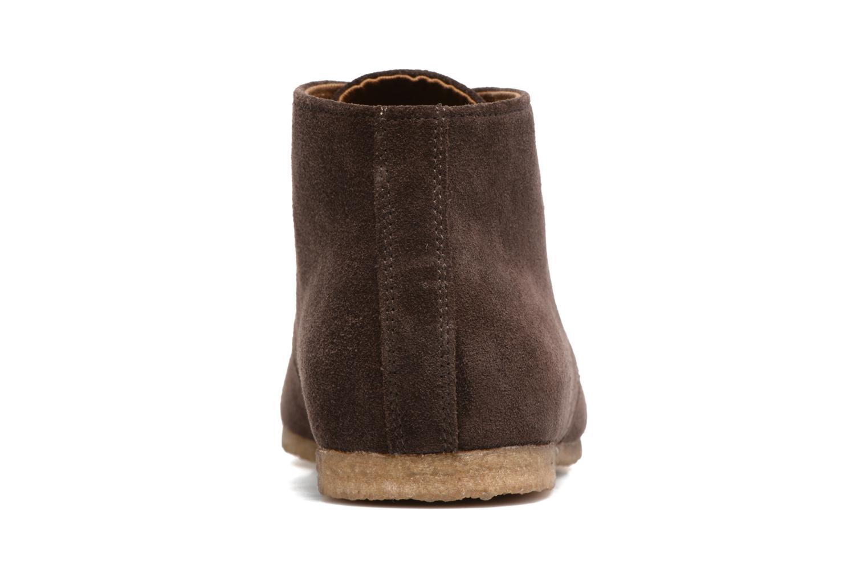 Chaussures à lacets Schmoove Creps Desert Cowsuede Marron vue droite
