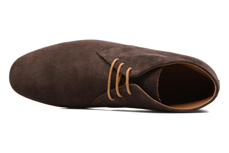 Chaussures à lacets Schmoove Creps Desert Cowsuede Marron vue gauche