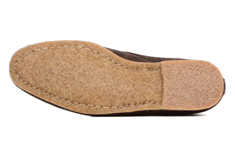 Chaussures à lacets Schmoove Creps Desert Cowsuede Marron vue haut