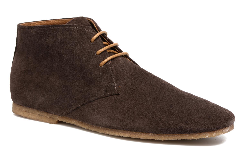 Chaussures à lacets Schmoove Creps Desert Cowsuede Marron vue détail/paire