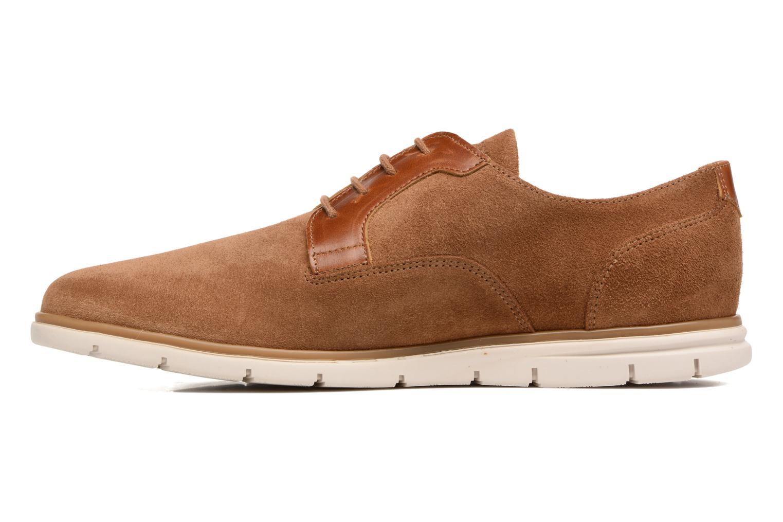 Chaussures à lacets Schmoove Shaft Club Suede Marron vue face