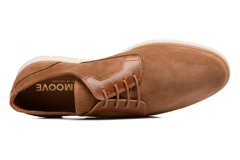 Chaussures à lacets Schmoove Shaft Club Suede Marron vue gauche