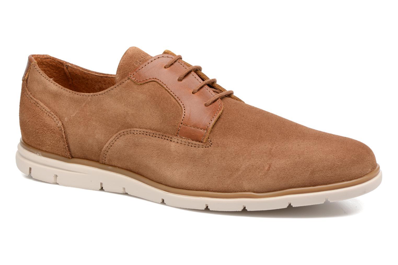 Chaussures à lacets Schmoove Shaft Club Suede Marron vue détail/paire