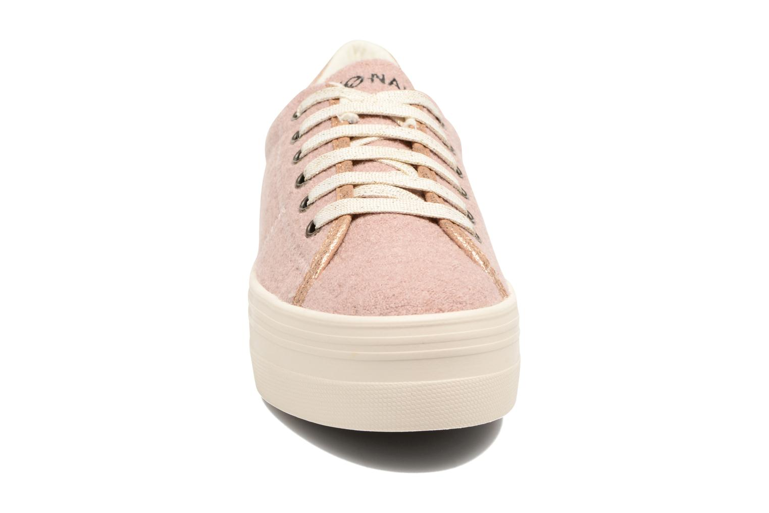 Baskets No Name Plato sneaker wake Rose vue portées chaussures
