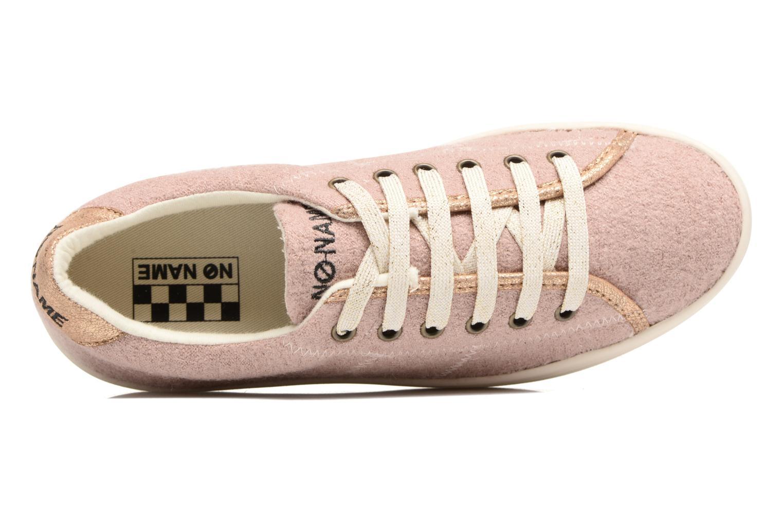 Baskets No Name Plato sneaker wake Rose vue gauche
