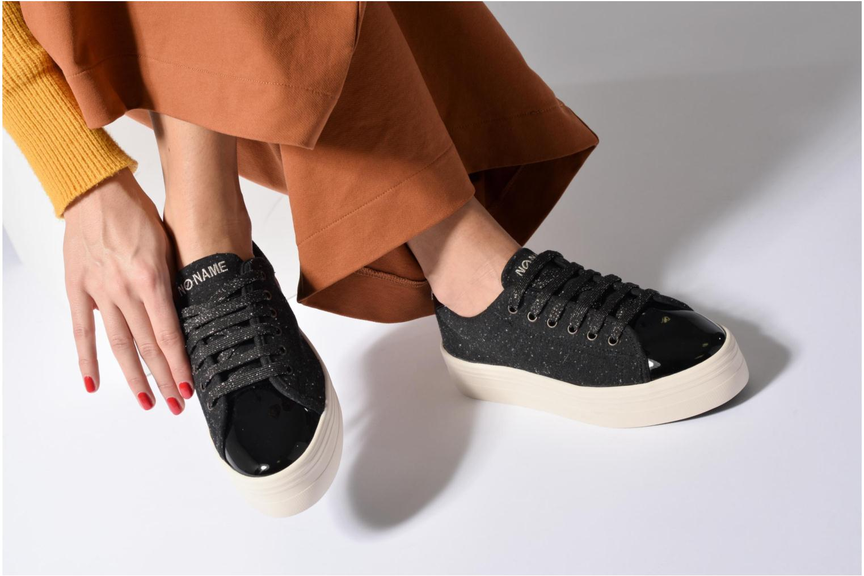 Baskets No Name Plato sneaker patent Noir vue bas / vue portée sac