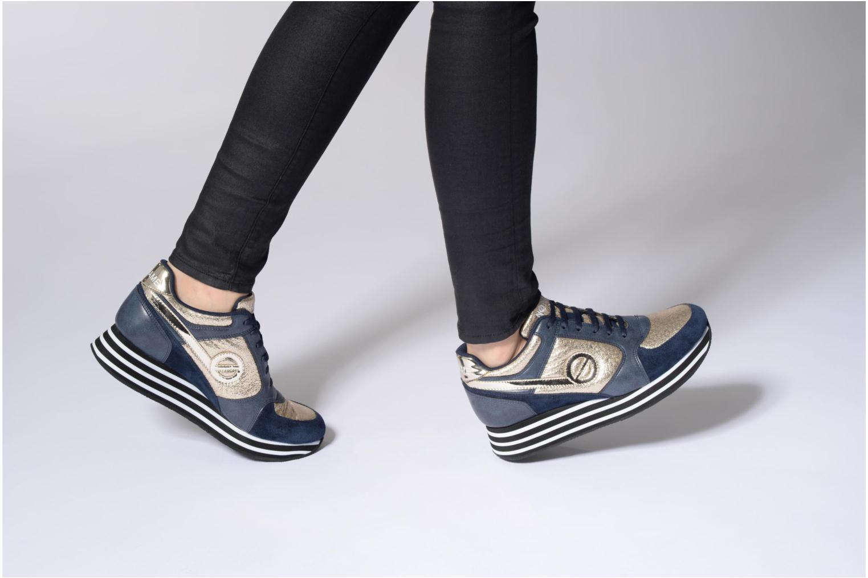 Sneakers No Name Parko jogger play suede Nero immagine dal basso