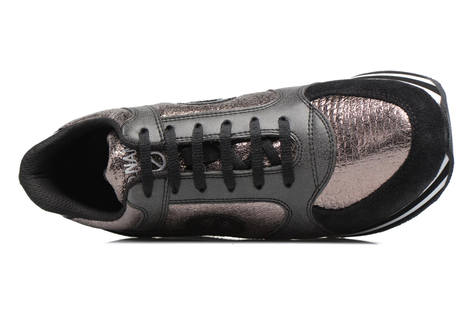 Sneakers No Name Parko jogger play suede Nero immagine sinistra