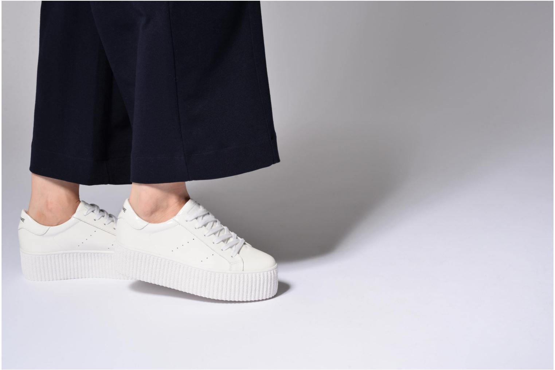 Baskets No Name Wild sneaker patent Blanc vue bas / vue portée sac