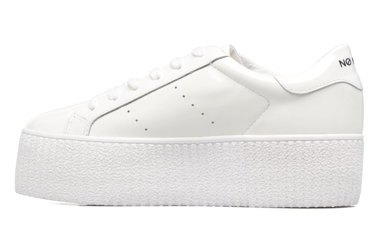 Baskets No Name Wild sneaker patent Blanc vue face