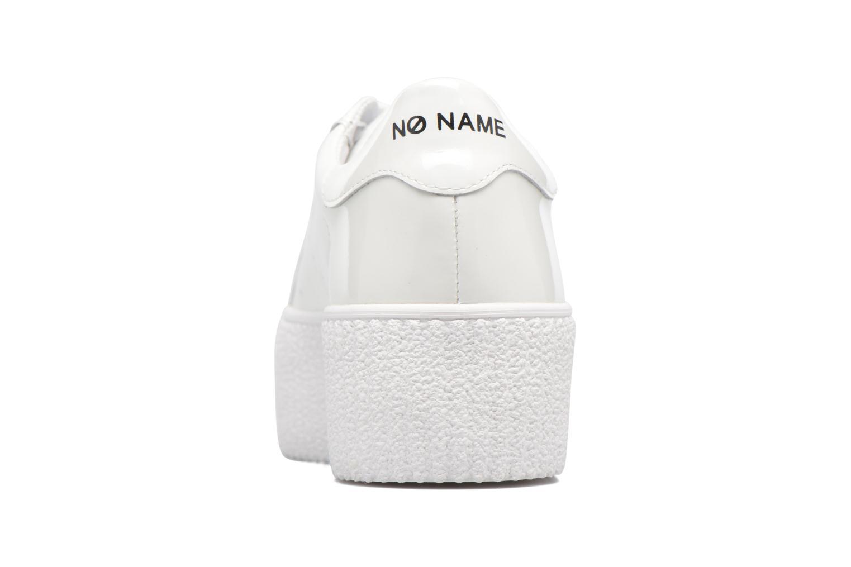 Baskets No Name Wild sneaker patent Blanc vue droite