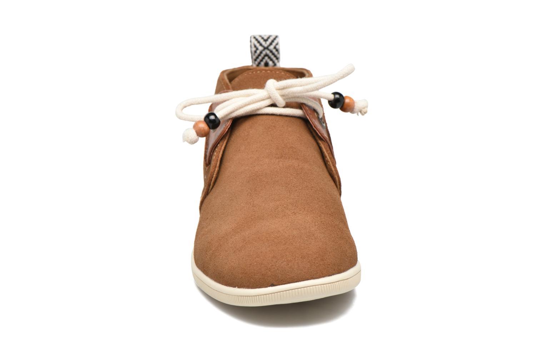 Baskets Armistice Stone mid cut oxyde Marron vue portées chaussures