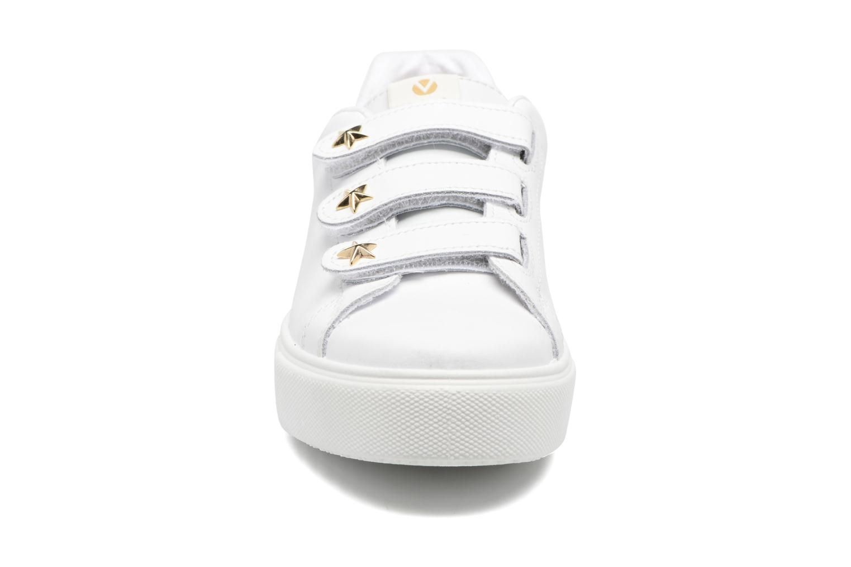 Baskets Victoria Deportivo Velcros Piel/Estrella Blanc vue portées chaussures