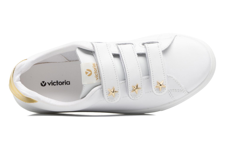 Baskets Victoria Deportivo Velcros Piel/Estrella Blanc vue gauche