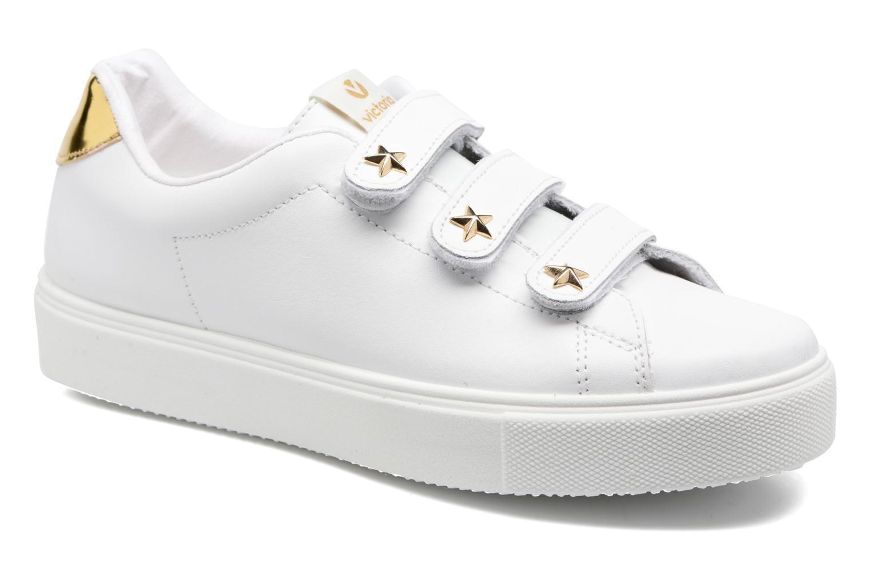 Marques Chaussure femme Victoria femme Deportivo Velcros Piel/Estrella Blanco