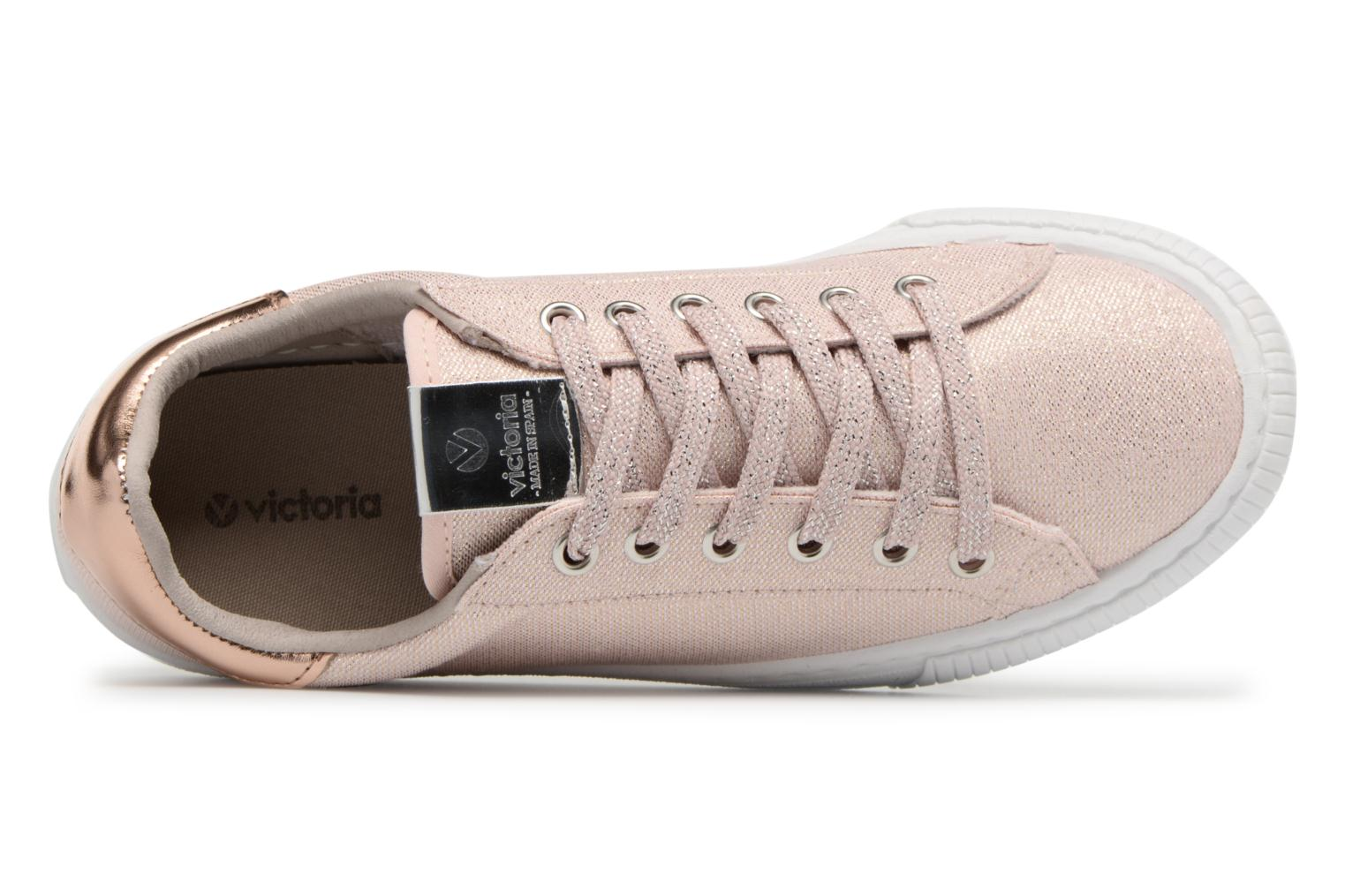 Trainers Victoria Deportivo Lurex Pink view from the left
