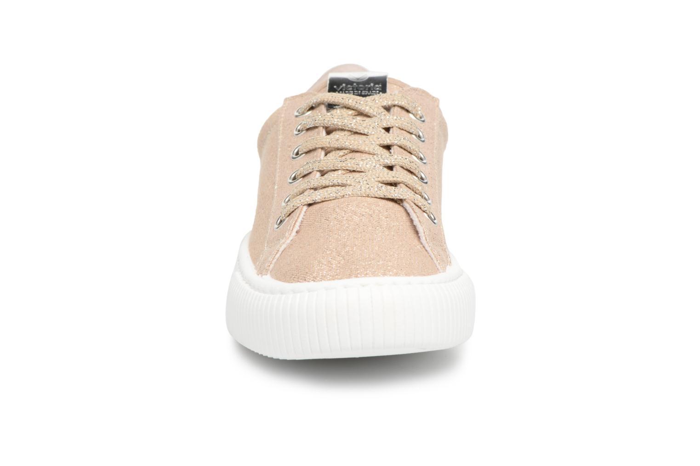 Baskets Victoria Deportivo Lurex Or et bronze vue portées chaussures