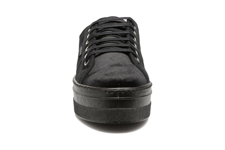 Basket Terciopelo Plateform Negro