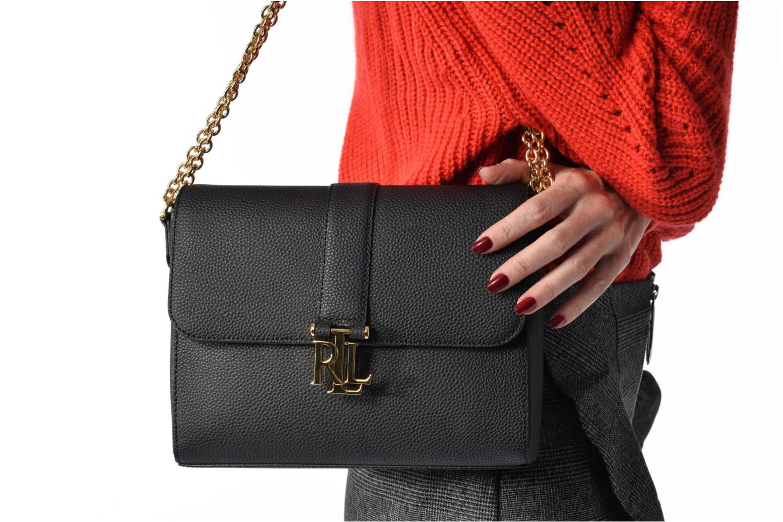 Sacs à main Lauren by Ralph Lauren Carrington Gabbi Shoulder Bag Noir vue haut