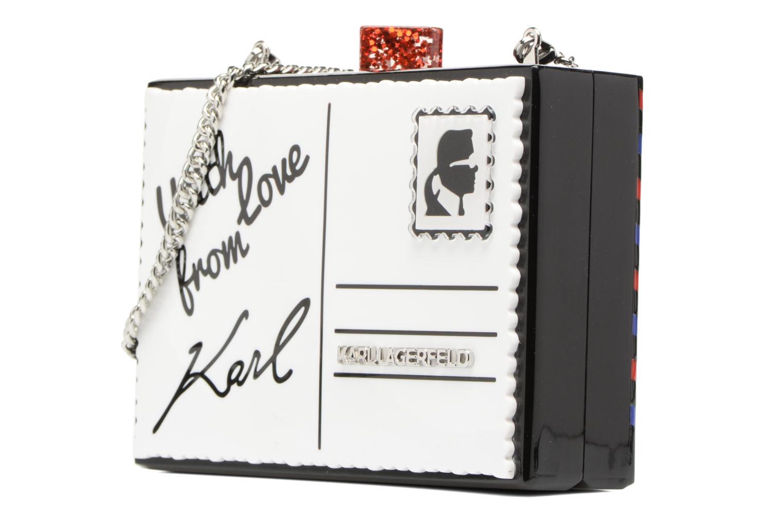 Sacs à main Karl Lagerfeld Postcard Minaudière Blanc vue portées chaussures