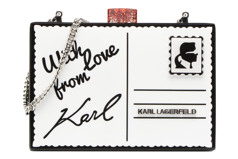 Sacs à main Karl Lagerfeld Postcard Minaudière Blanc vue détail/paire