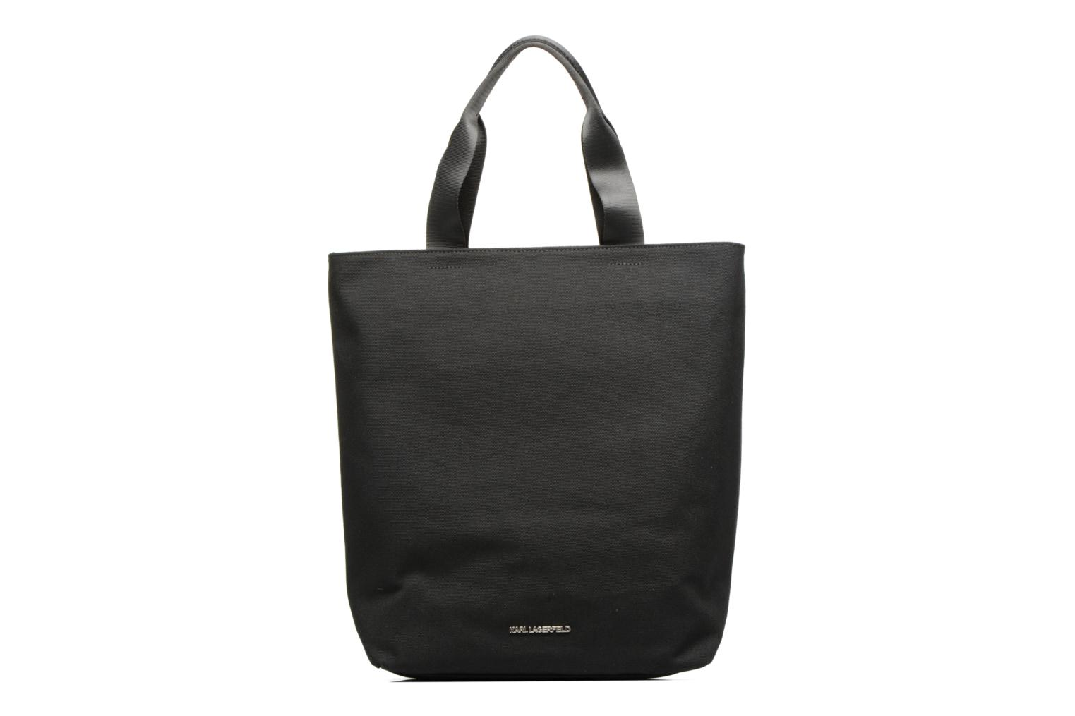 Sacs à main Karl Lagerfeld Paris Canvas Bag zippée Noir vue face