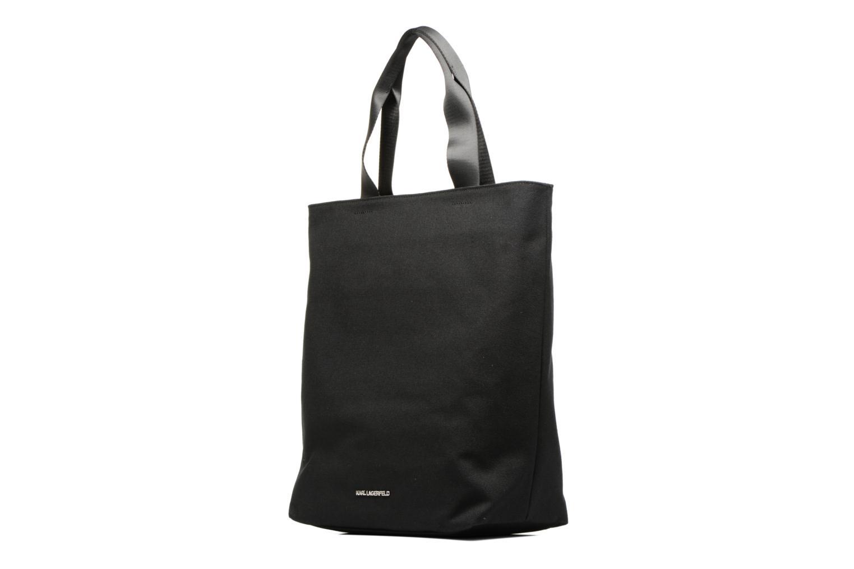 Sacs à main KARL LAGERFELD Paris Canvas Bag zippée Noir vue droite