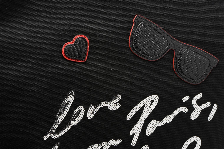 Sacs à main KARL LAGERFELD Paris Canvas Bag zippée Noir vue gauche