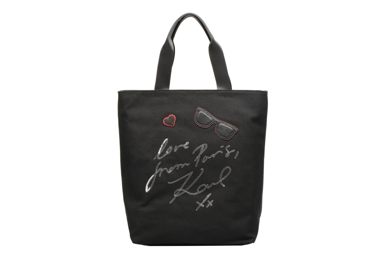 Sacs à main KARL LAGERFELD Paris Canvas Bag zippée Noir vue détail/paire