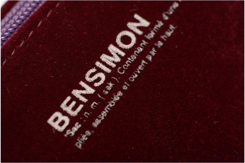 Kleine lederwaren Bensimon New pocket Bordeaux links