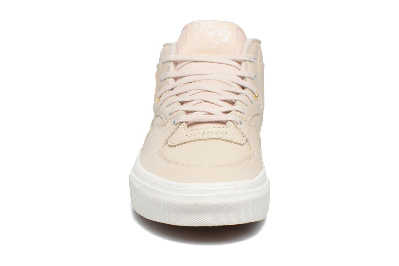 Baskets Vans Half Cab DX W Rose vue portées chaussures