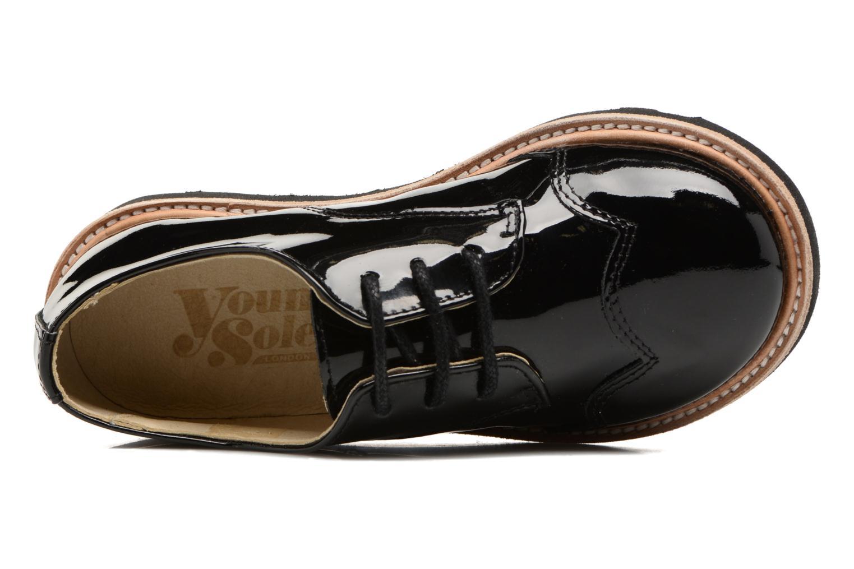 Chaussures à lacets Young Soles Olive Noir vue gauche